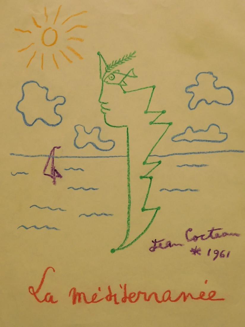 Jean Cocteau: La Mediterranee, 1961 Drawing