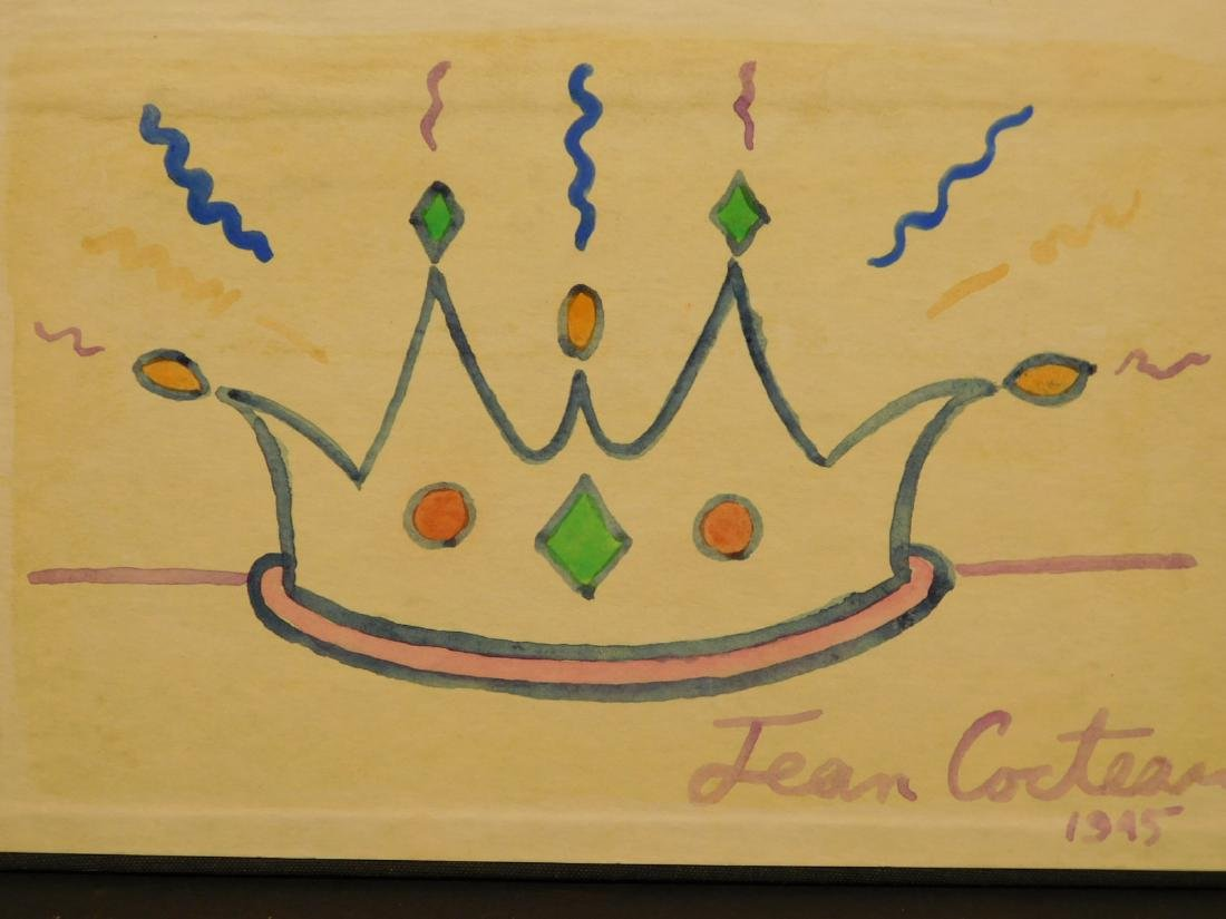 Jean Cocteau: Crown, 1945 Watercolor