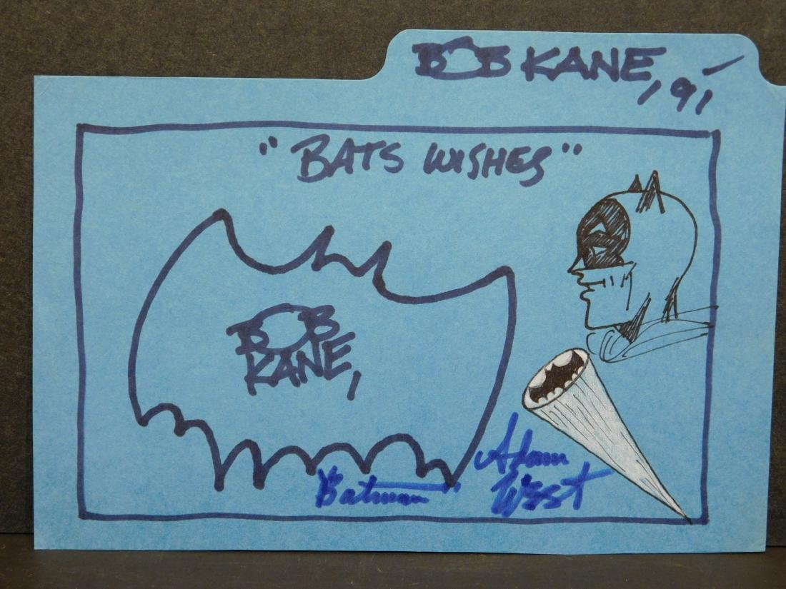 Bob Kane: Bats Wishes, Signed Drawing