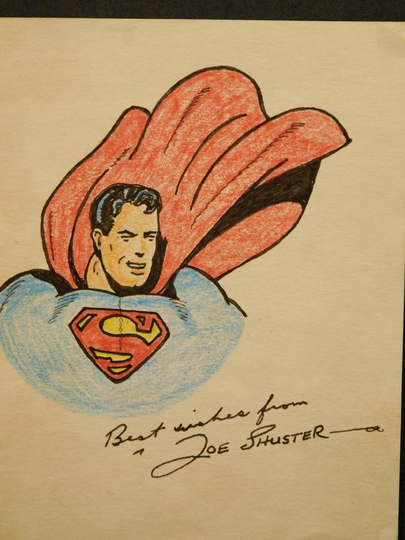 Joe Schuster: Superman, Signed Drawing