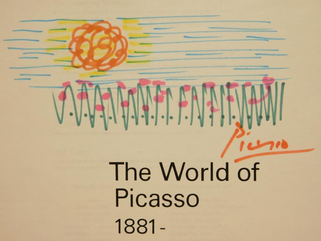 Pablo Picasso: Sketch and Autograph