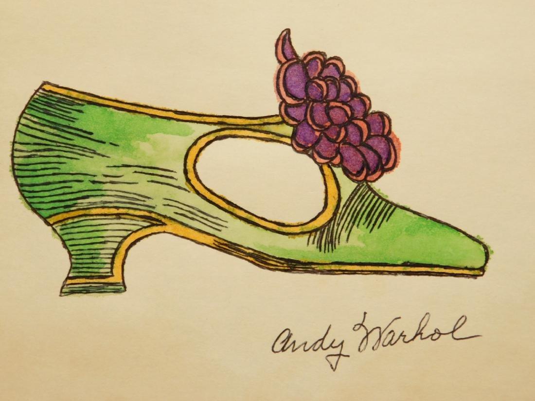 Andy Warhol: Green Shoe Drawing