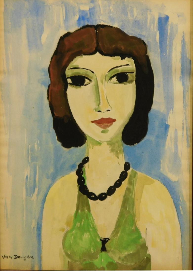 Kees Van Dongen: Woman with Black Beads