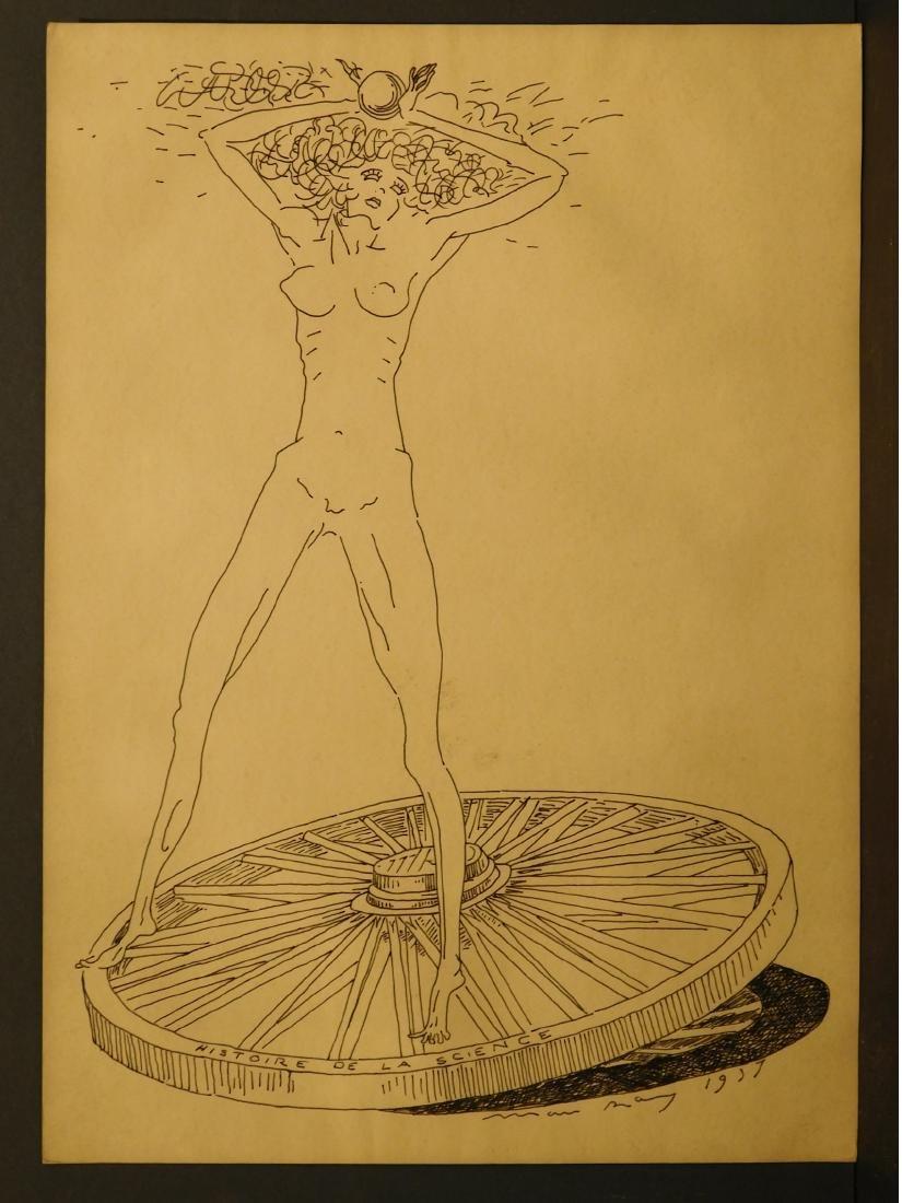 Man Ray: Histoire de la Science, 1937 drawing