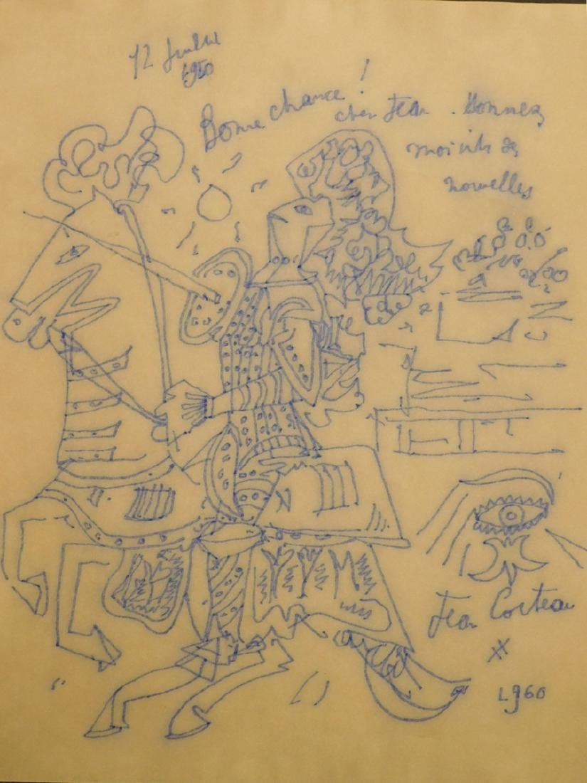 Jean Cocteau: Knight on a Horse, 1960 drawing
