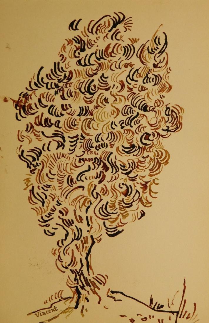 Vincent Van Gogh: Double-sided Sketchbook Drawing