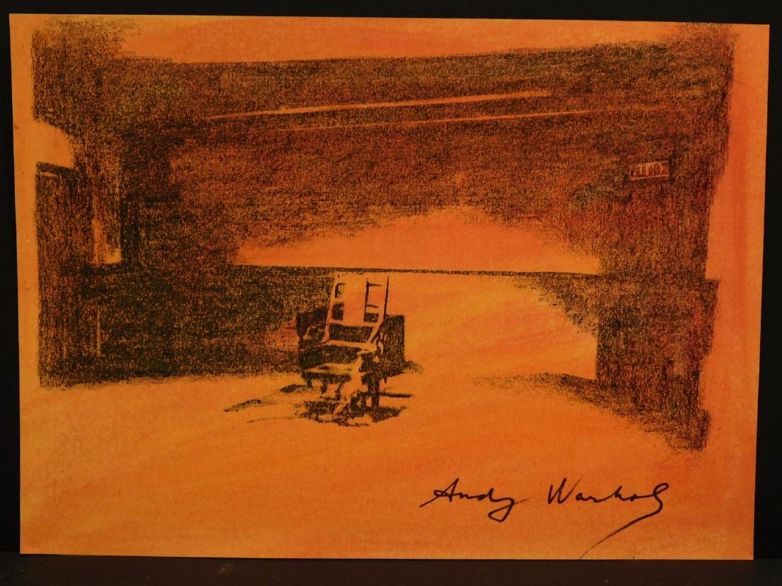 Electric chair andy warhol - Andy Warhol Electric Chair Painting