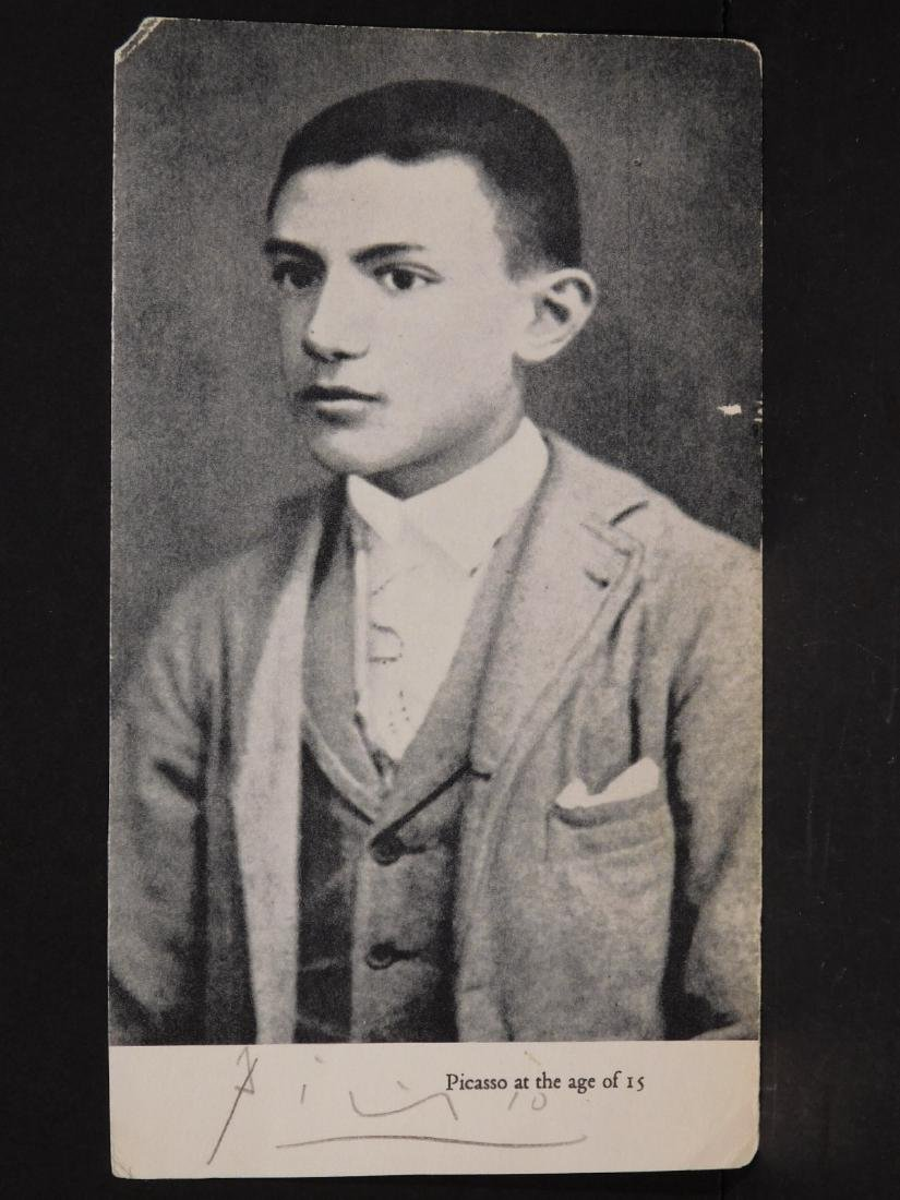 Signed Photograph of Picasso at 15