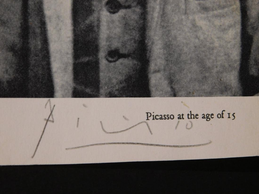 Signed Photograph of Picasso at 15 - 2