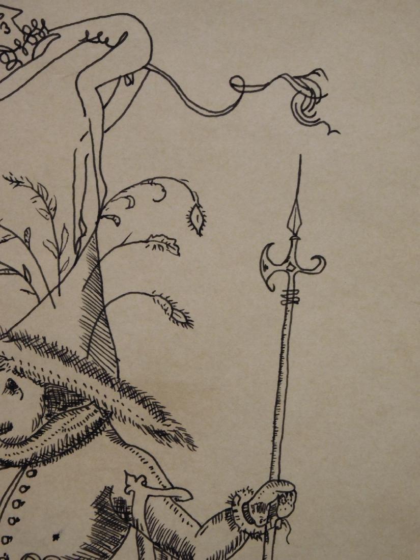 Salvador Dali: Surreal Figure Standing on an Elephant - 3
