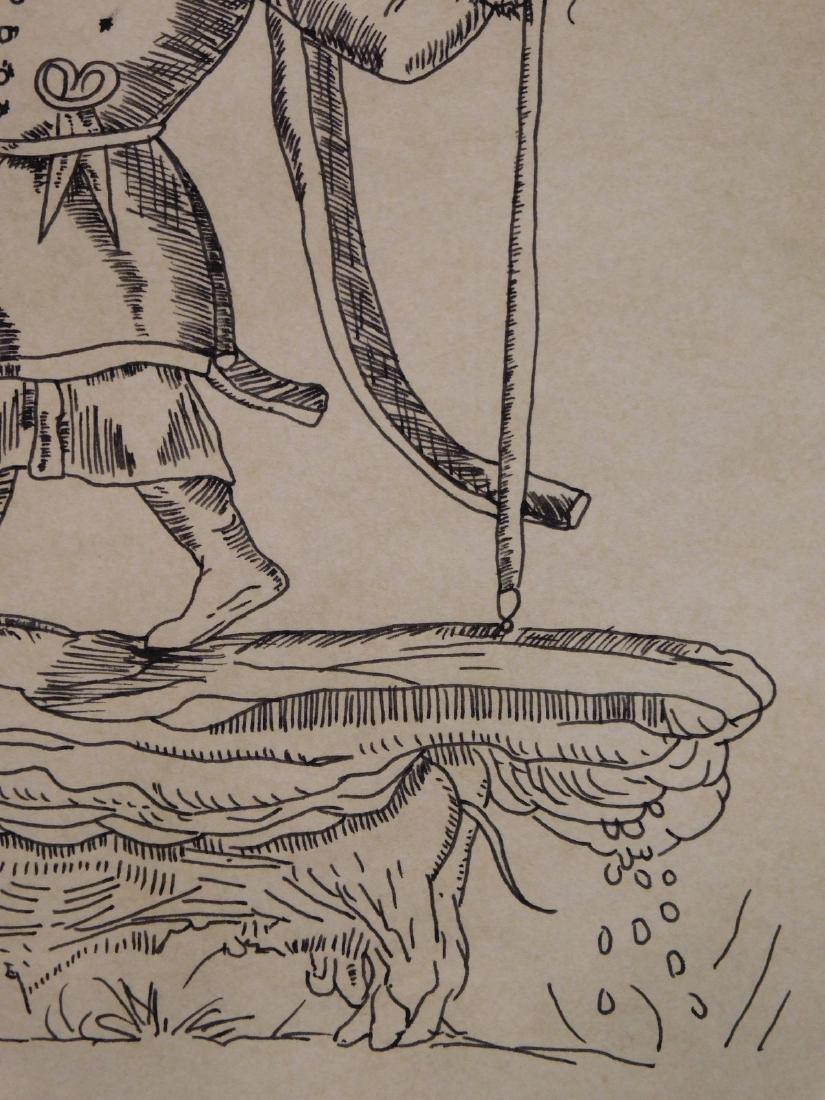 Salvador Dali: Surreal Figure Standing on an Elephant - 4