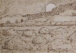Vincent van Gogh: Landscape with Haystacks