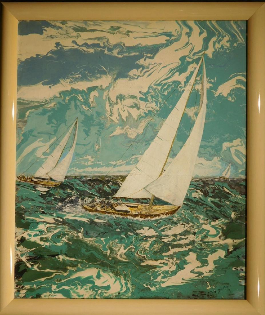 Bill Miller:  Florida Modern Sailboat Racing Oil