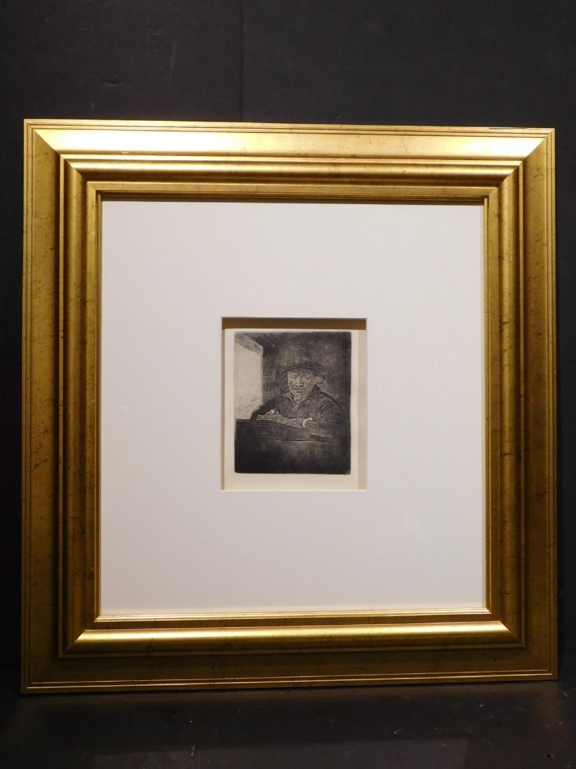 Rembrandt Van Rijn: Self Portrait Drawing at a Window - 2