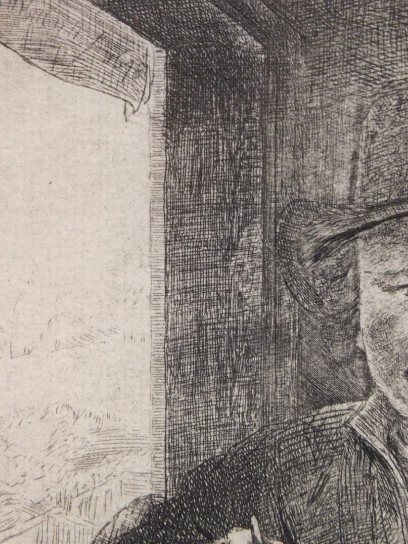 Rembrandt Van Rijn: Self Portrait Drawing at a Window - 3