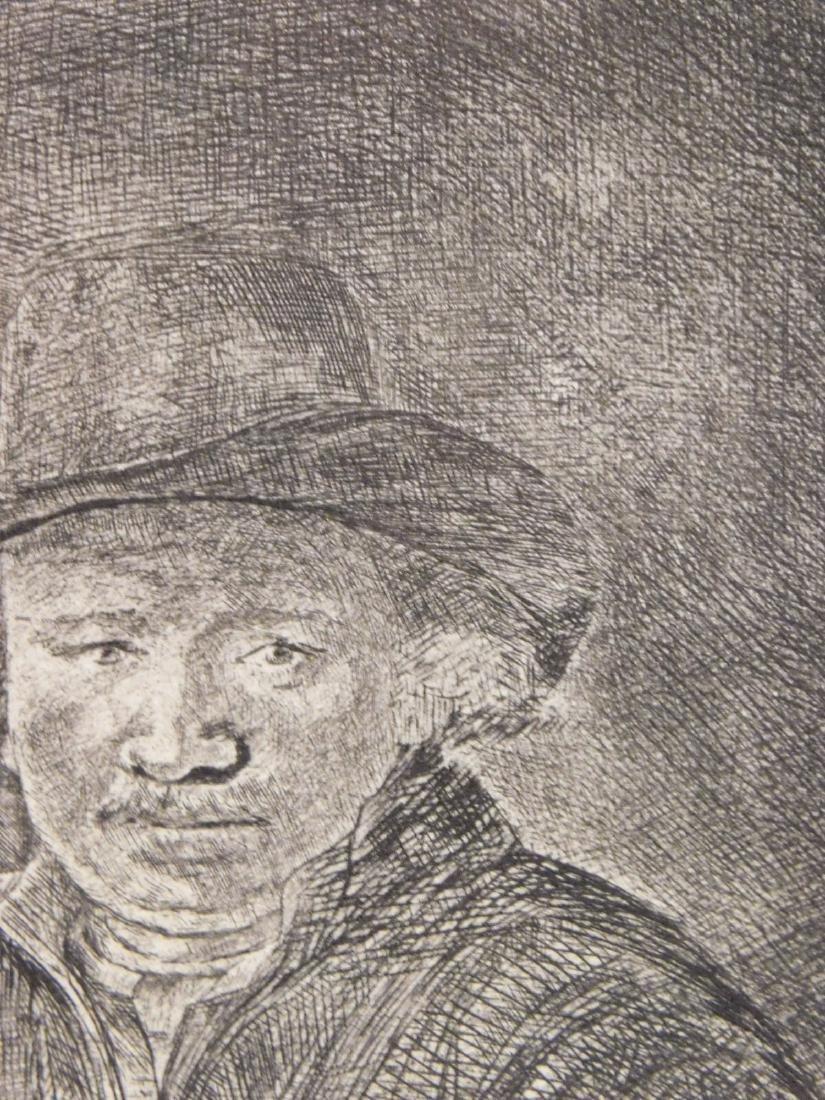 Rembrandt Van Rijn: Self Portrait Drawing at a Window - 4