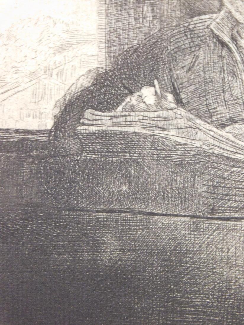 Rembrandt Van Rijn: Self Portrait Drawing at a Window - 6