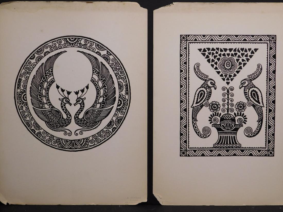 A. Lindey: Pair of Bird Drawings