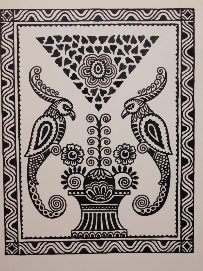 A. Lindey: Pair of Bird Drawings - 3
