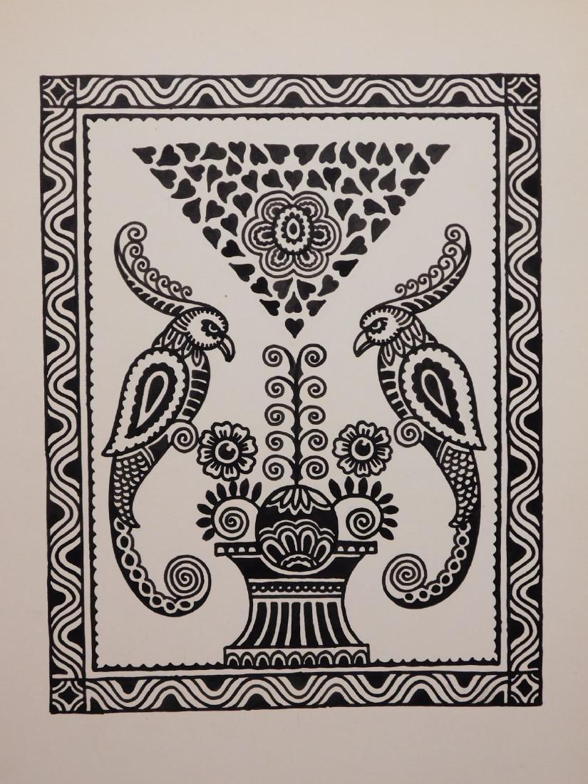 A. Lindey: Pair of Bird Drawings - 4