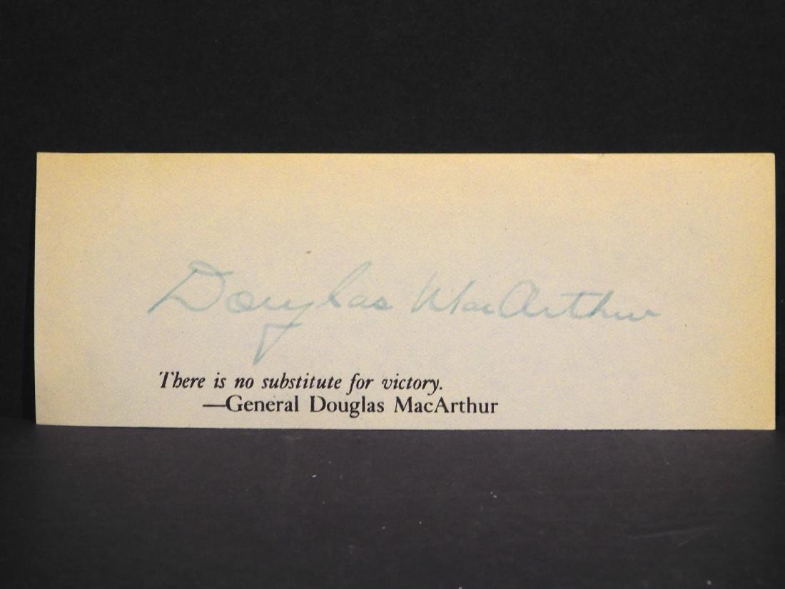 Douglas MacArthur Autograph
