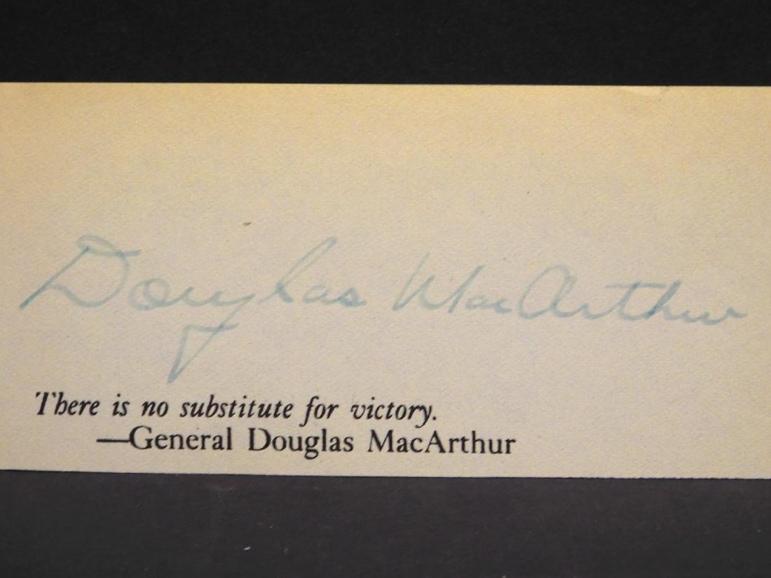 Douglas MacArthur Autograph - 2