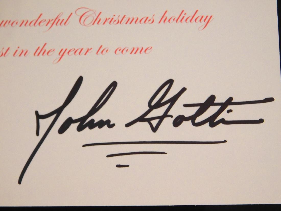 John Gotti Autograph on Christmas Card - 2