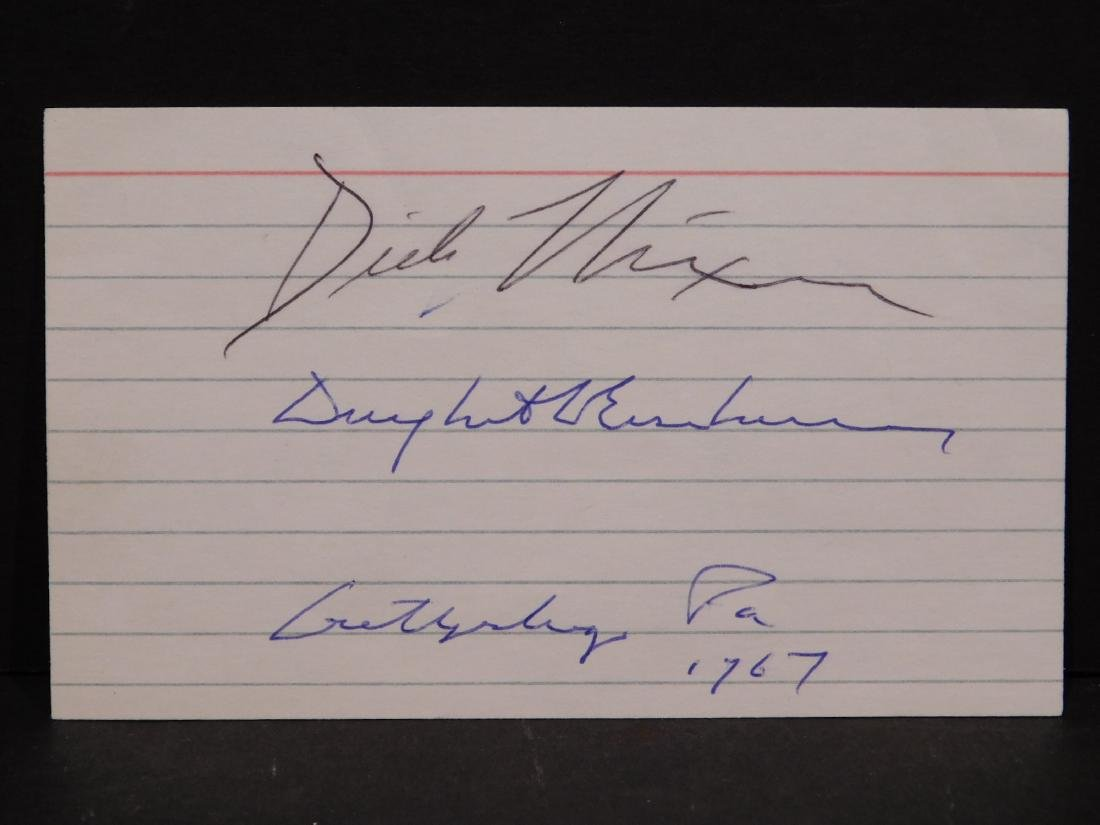 Richard Nixon, Dwight Eisenhower and Omar N. Bradley - 2