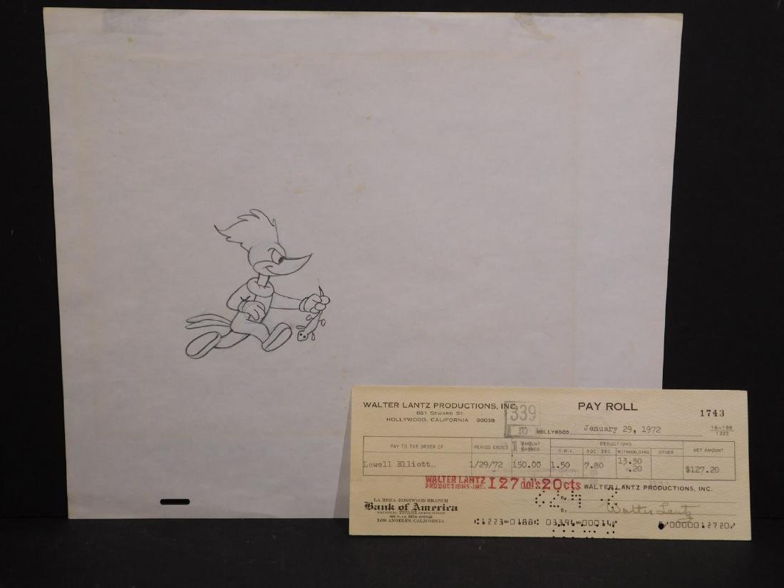 Walter Lantz: Woody Woodpecker & Signed Check