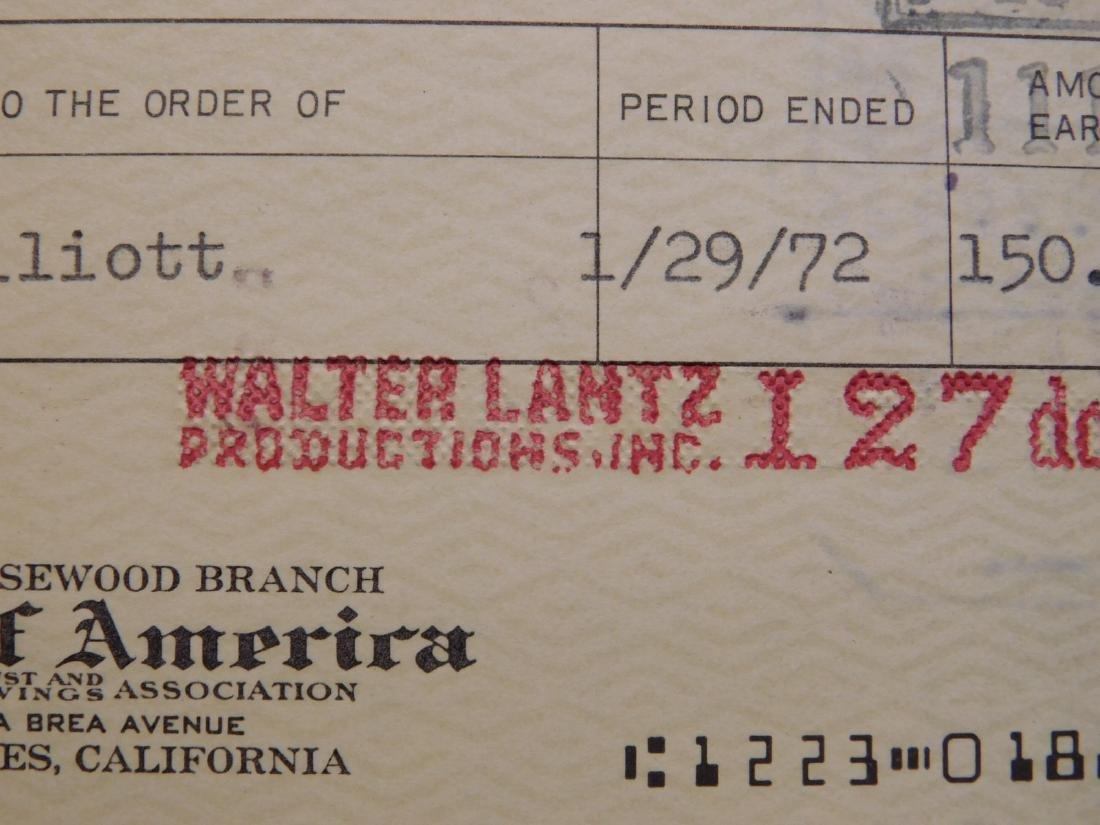 Walter Lantz: Woody Woodpecker & Signed Check - 4