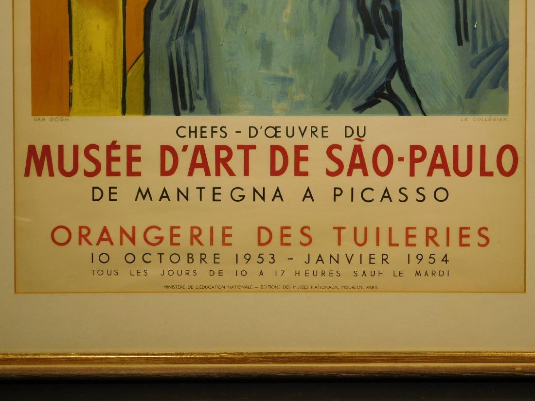 1953 Vincent Van Gogh Exhibition Poster - 3