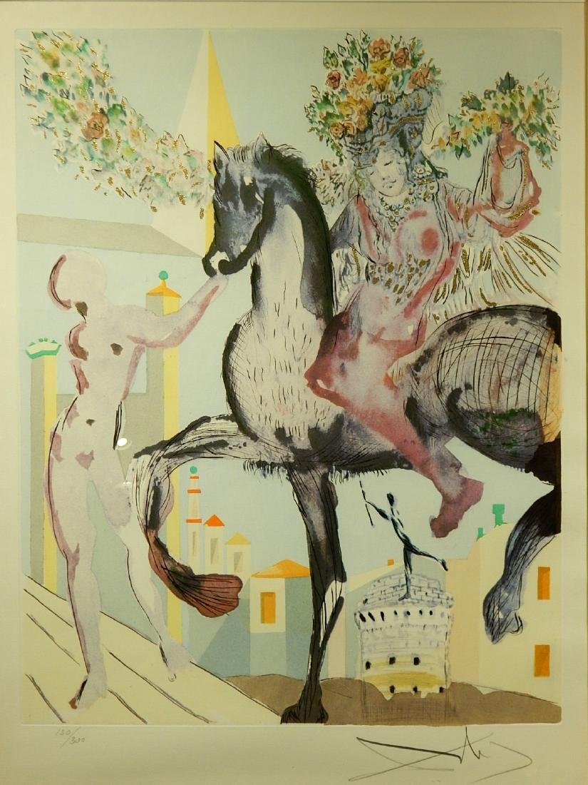 Style of Salvador Dali: The Flowered Horseman, 1982
