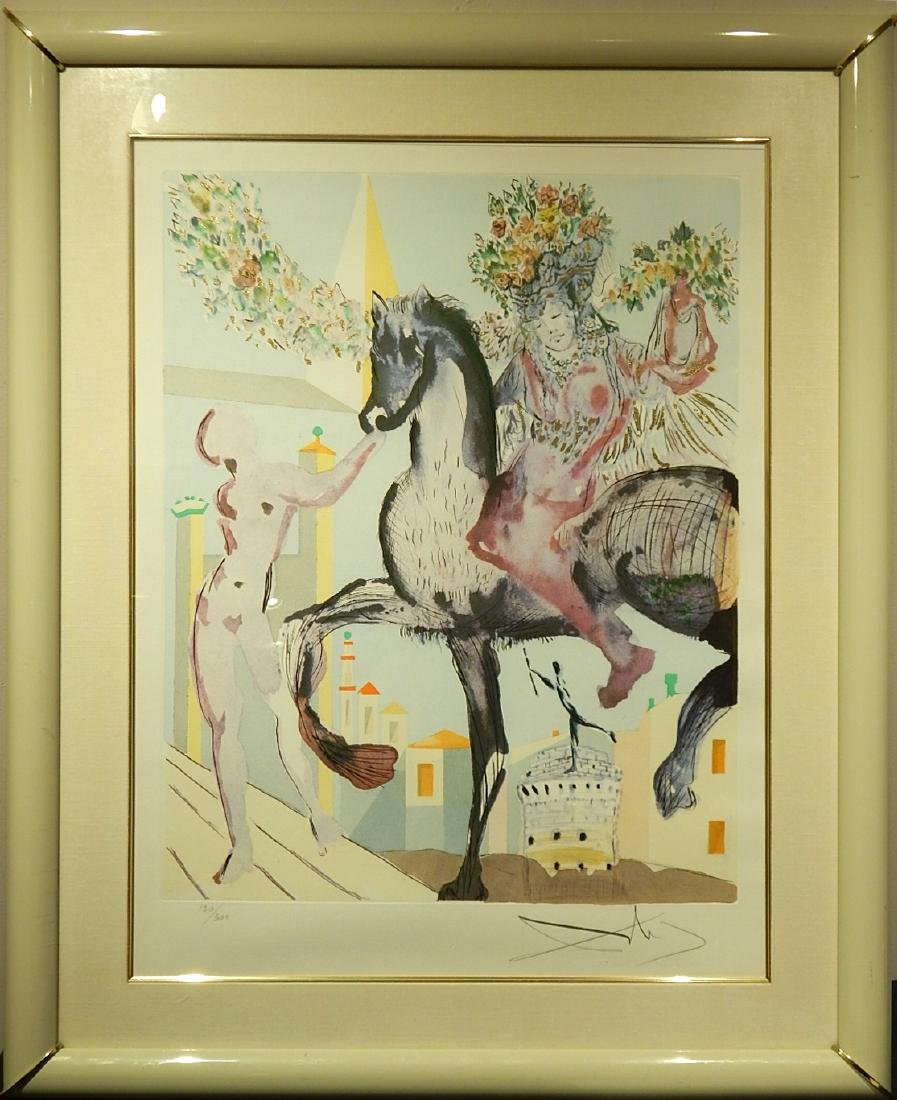 Style of Salvador Dali: The Flowered Horseman, 1982 - 2