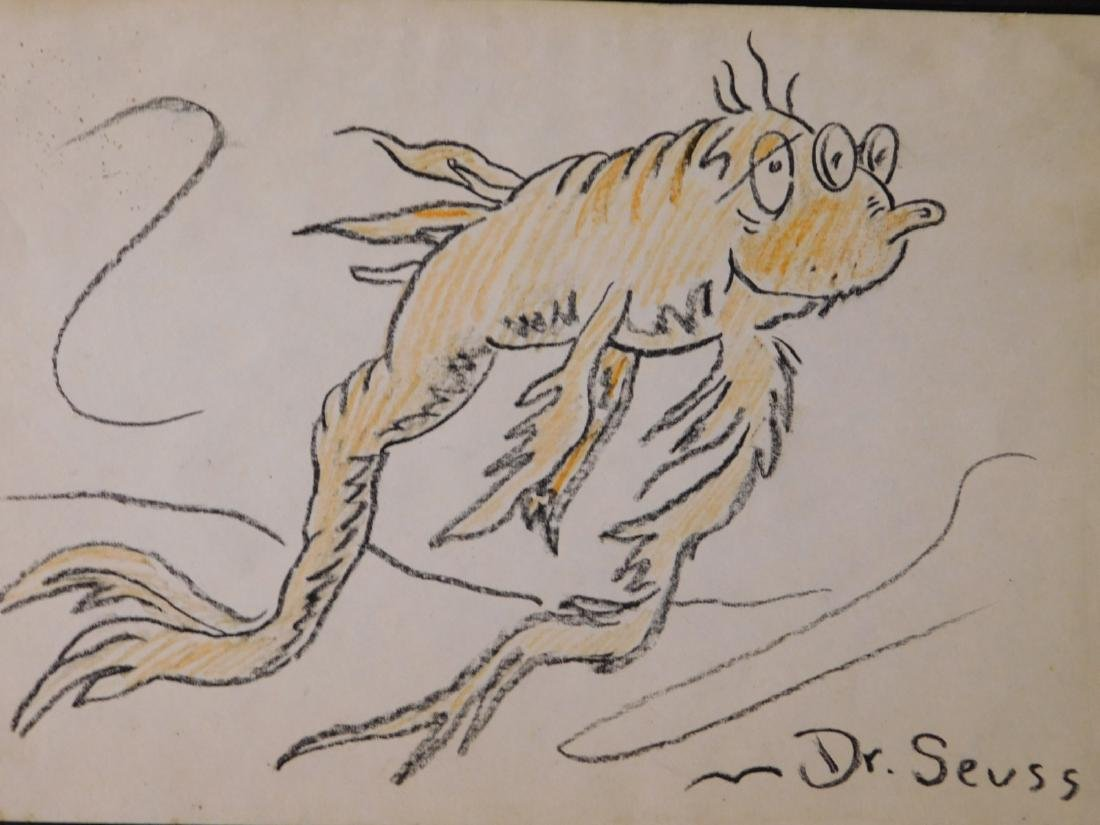 Dr. Seuss: Illustration of Old Fish (One Fish Two Fish