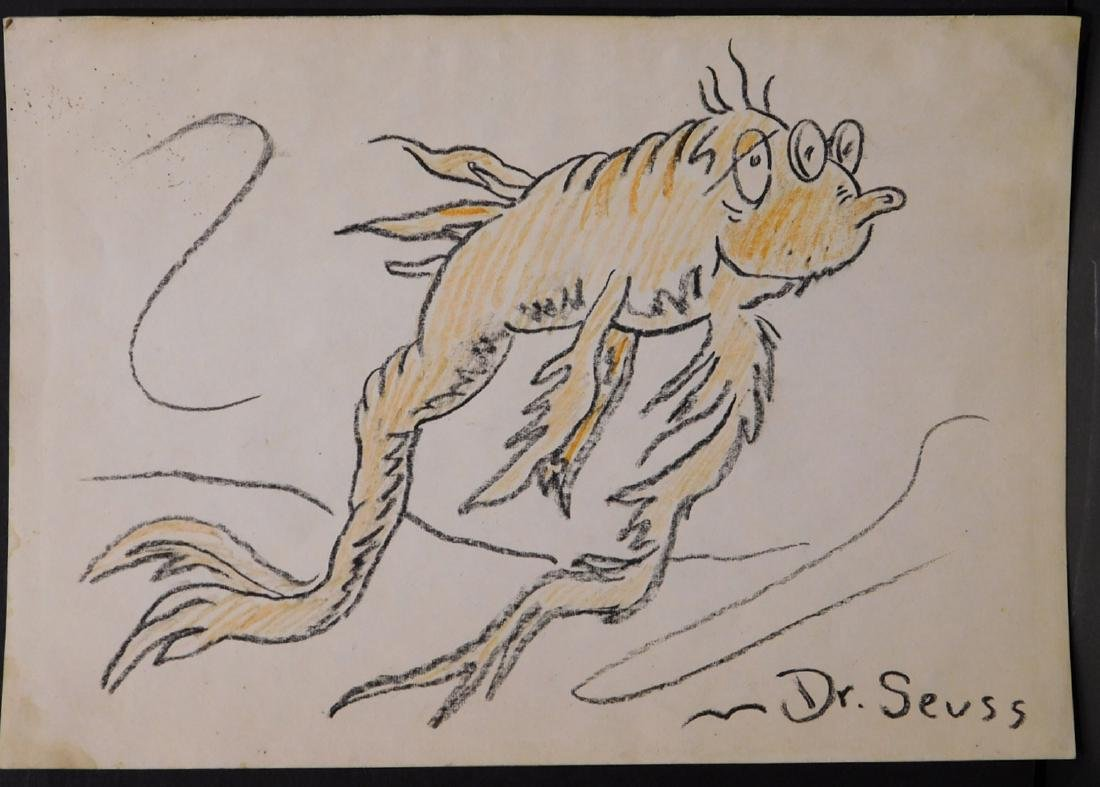 Dr. Seuss: Illustration of Old Fish (One Fish Two Fish - 2