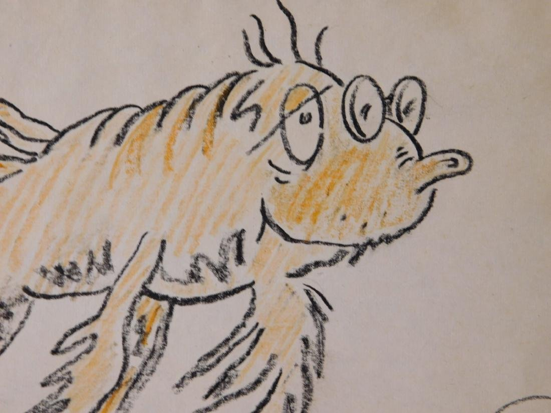 Dr. Seuss: Illustration of Old Fish (One Fish Two Fish - 3