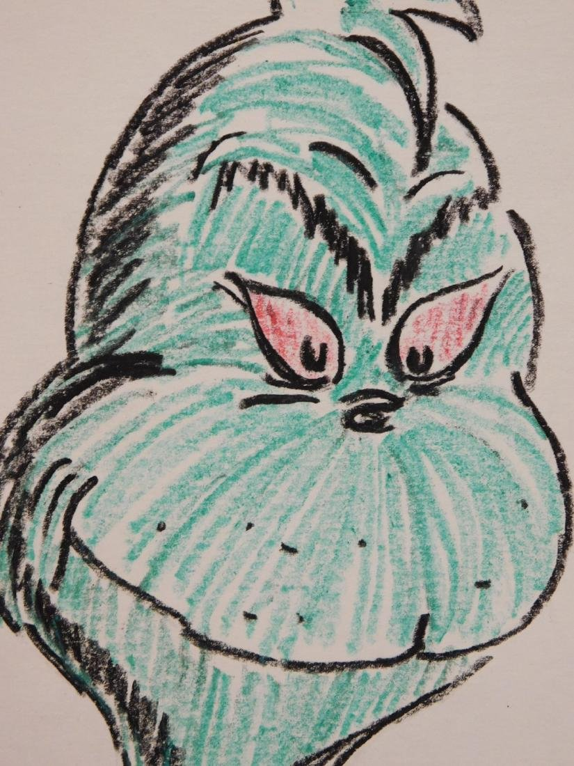 Dr. Seuss: Illustration of The Grinch from How the - 3