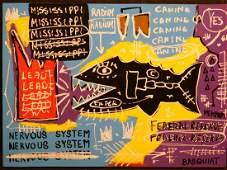 Jean-Michel Basquiat: Radium (Fish)
