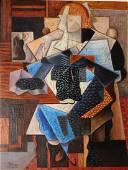 After Jean Metzinger: La Tricoteuse (Knitting Woman)