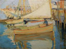 Jane Peterson: Boats in Gloucester Harbor