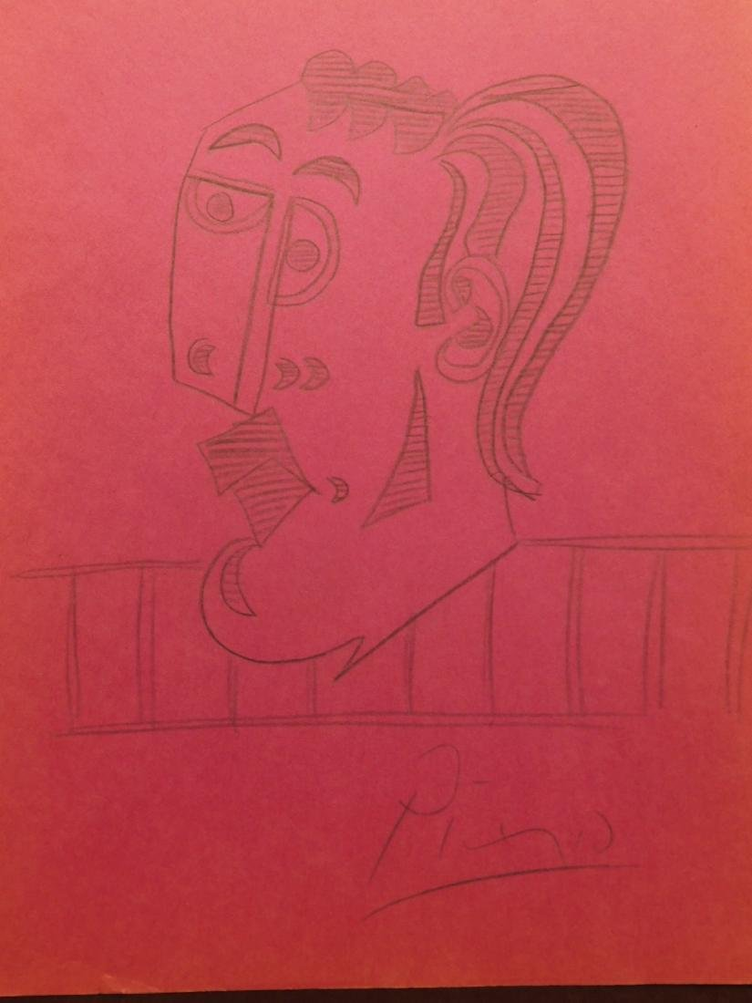 Pablo Picasso: Cubist Head Drawing