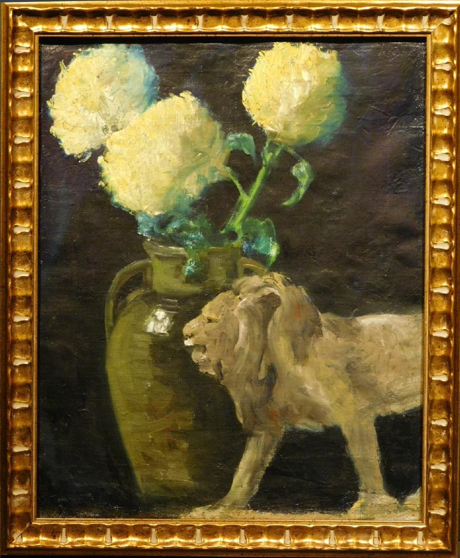 Thomas: Still Life with Lion and Flowers