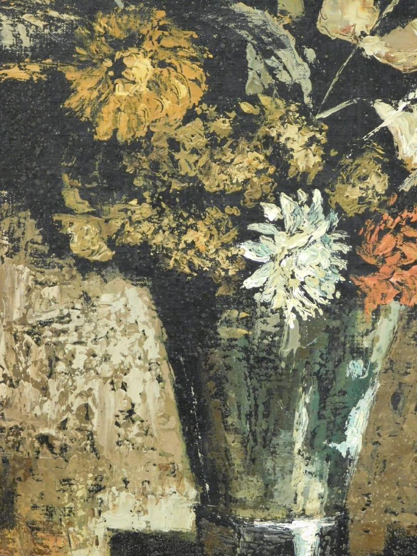 Martin Ocana: Modernist Floral Still Life, 1969 Oil