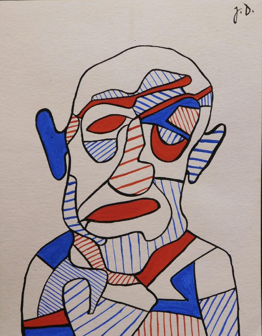 Manner of Jean Dubuffet:  Male Portrait