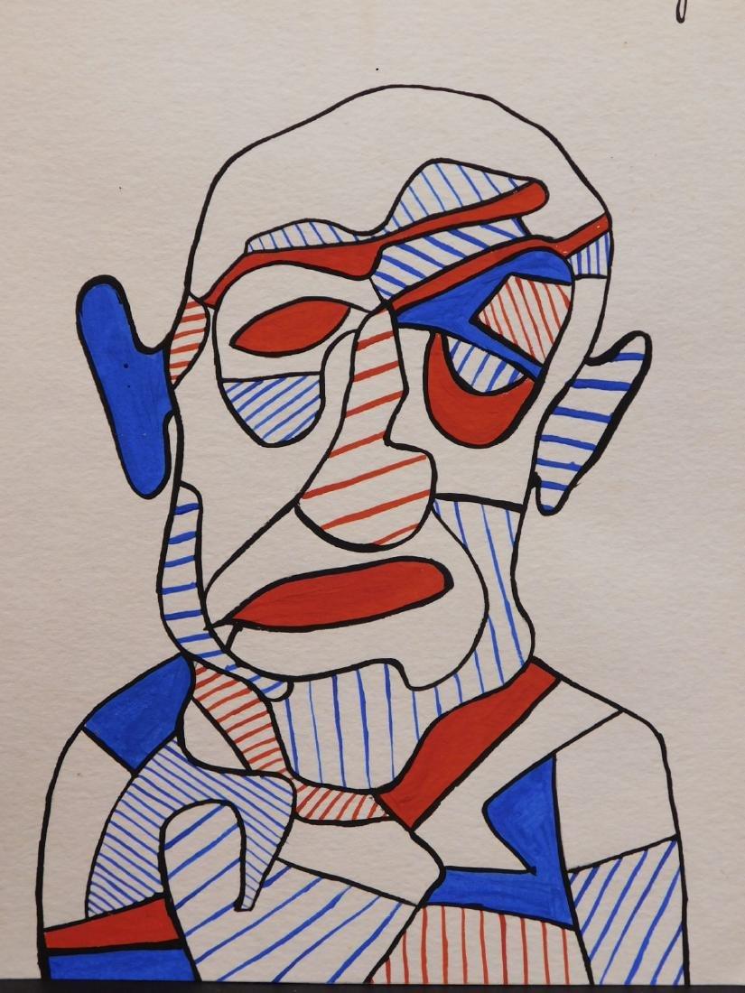 Manner of Jean Dubuffet:  Male Portrait - 2