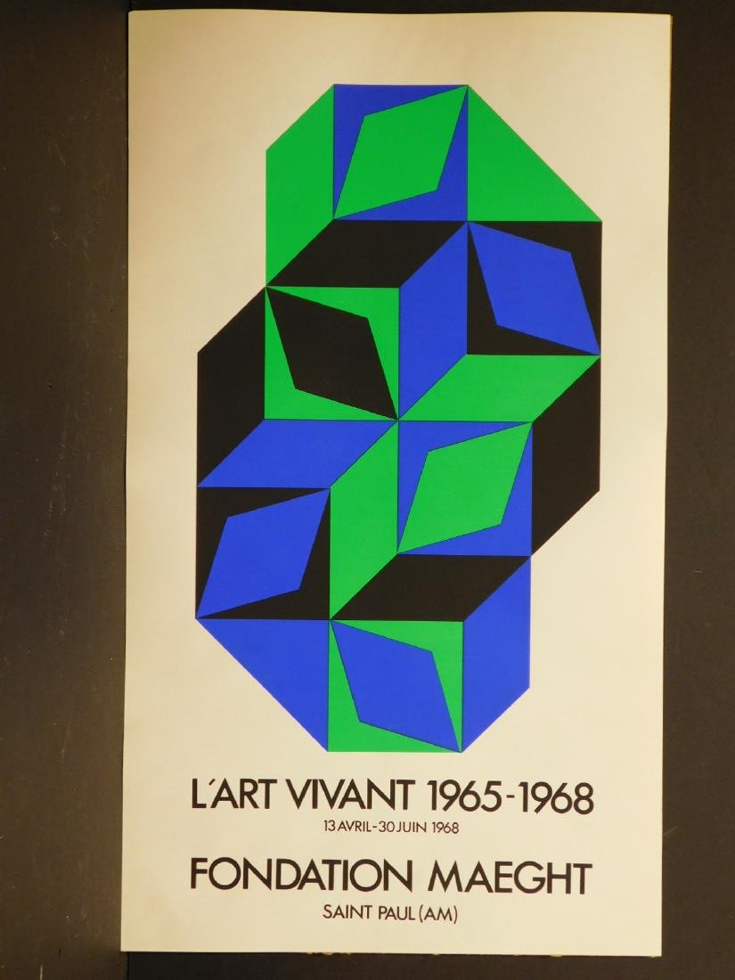 Victor Vasarely: 1968 Foundation Maeght Poster
