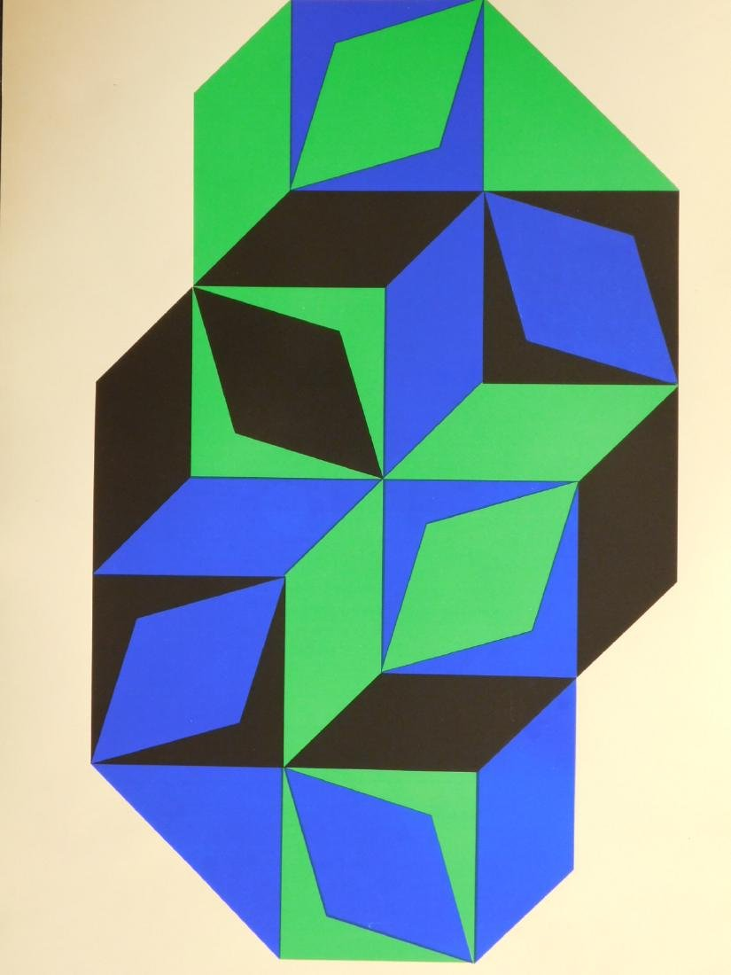 Victor Vasarely: 1968 Foundation Maeght Poster - 2