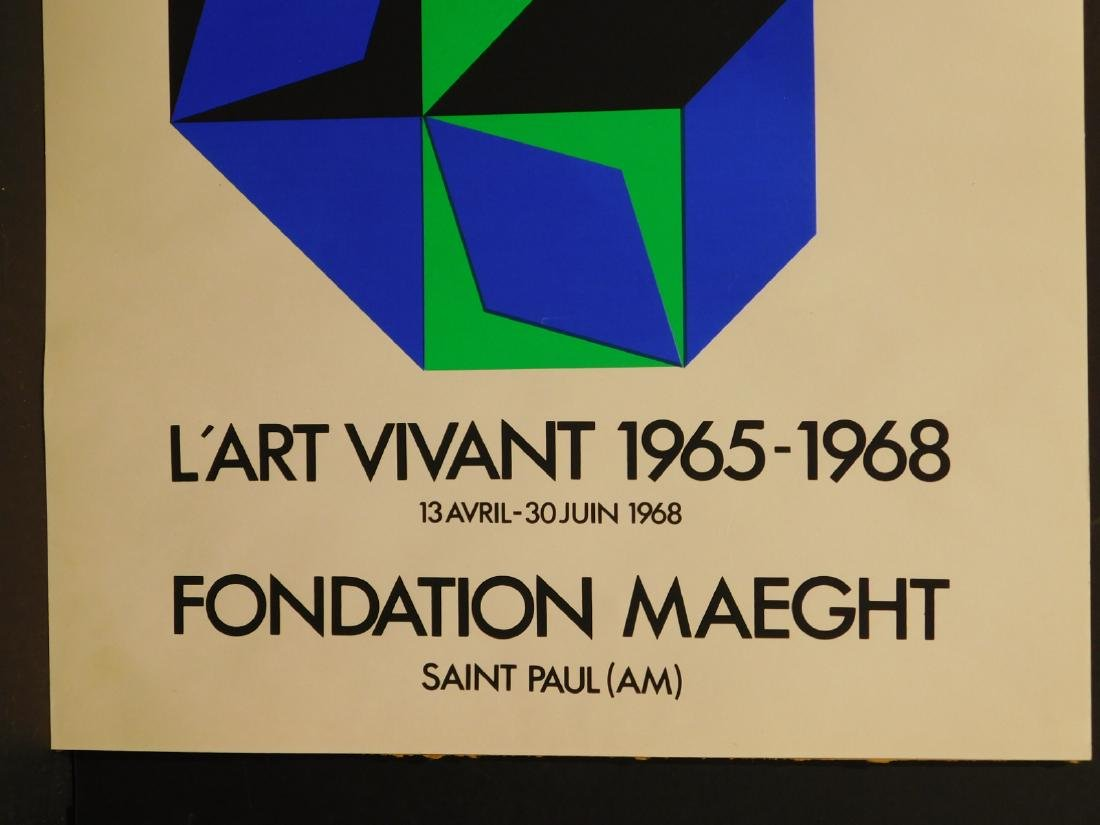 Victor Vasarely: 1968 Foundation Maeght Poster - 3