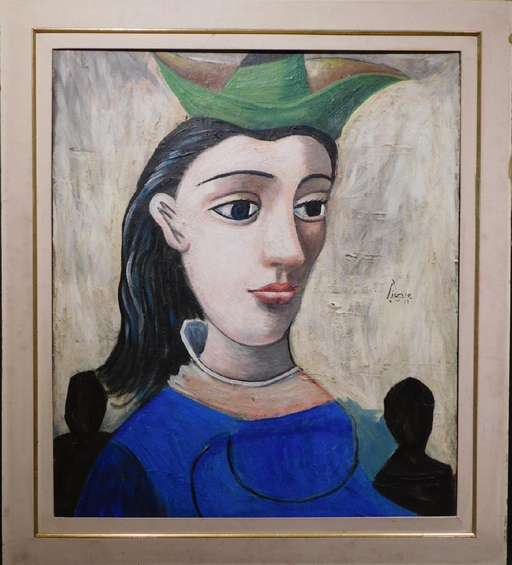 After Pablo Picasso: Woman in a Hat
