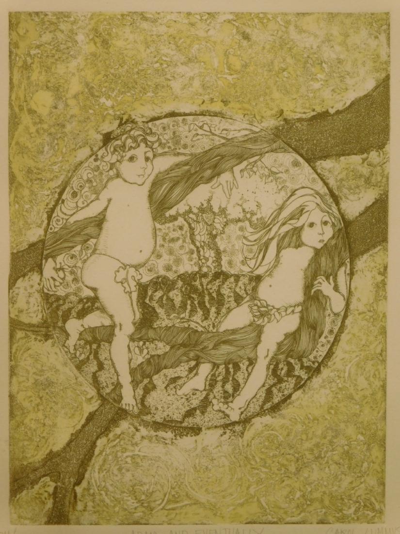 Carol Travers Lummus: Adam and Eventually, etching